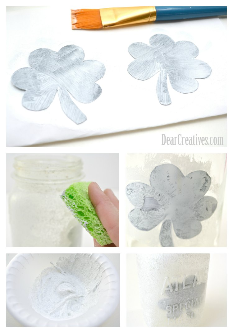 Steps for creating the mason jar luminary DearCreatives.com
