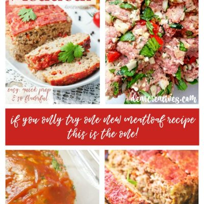 Hands Down The Best Meatloaf Recipe! Roasted Red Peppers, Spinach, Feta Cheese…