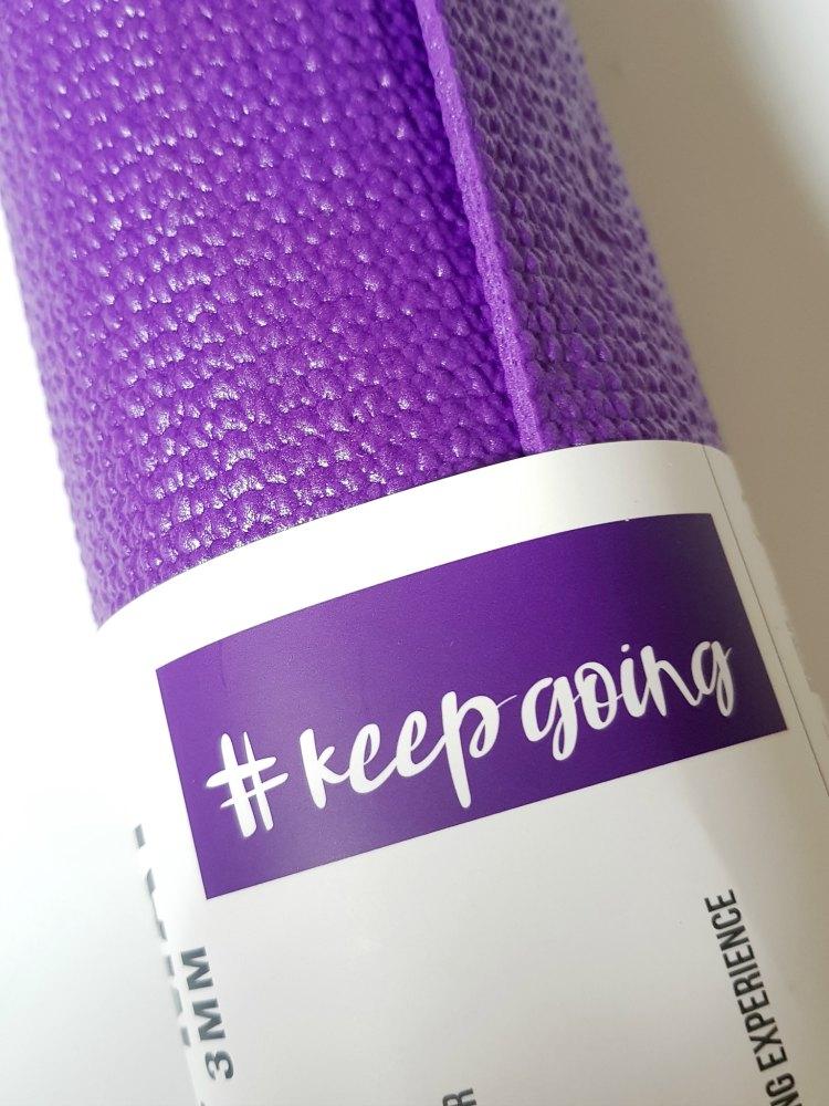 exercise mat #keepgoing