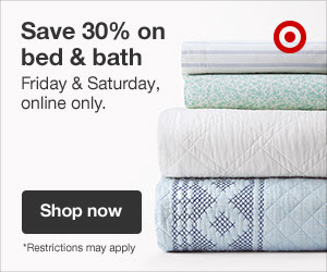 Home decor- Sale 30% off bed and bath