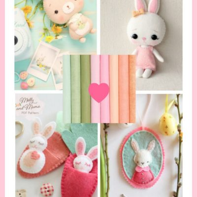 Easy Easter Crafts Roundup of The Best Felt Craft Patterns to Make