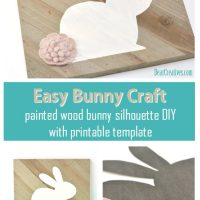 Painted Bunny Craft With Free Template