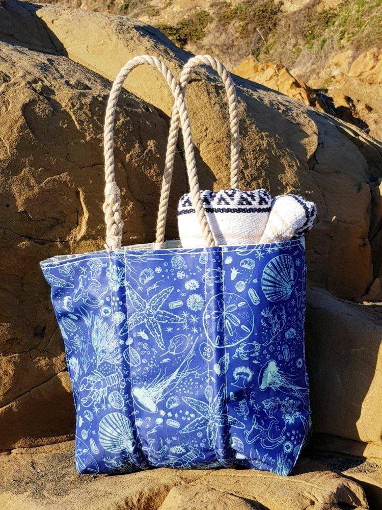 Marine Life Sea Bags handmade tote DearCreatives.com