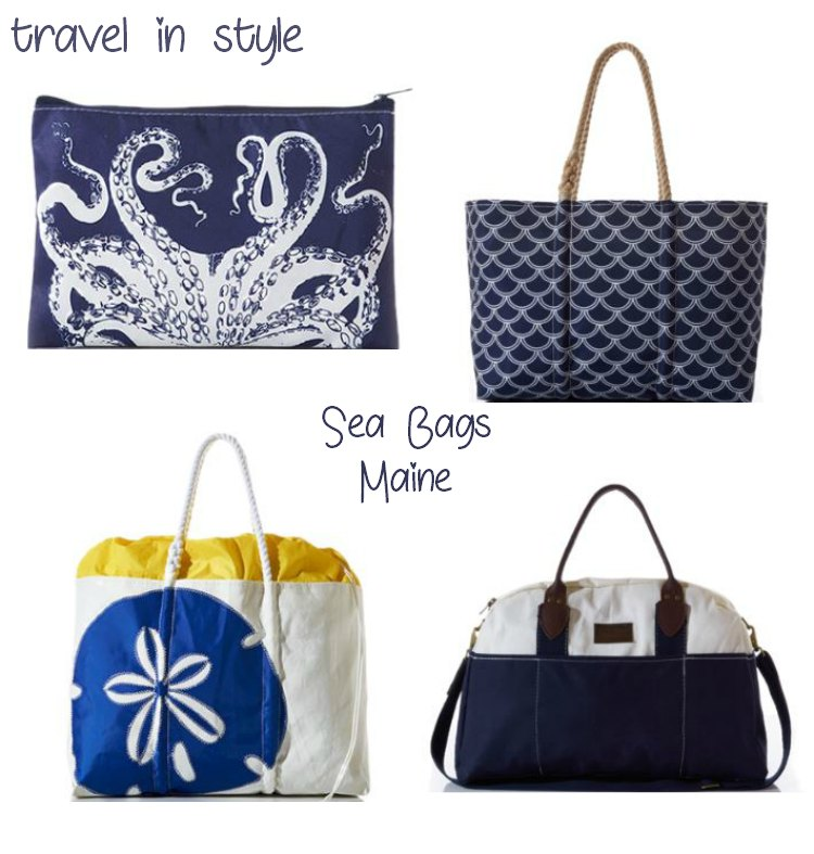 Sea Bags upcycled handmade bags from sails. Travel in style, these bags are so well made, and there are designs for everyone or if you are a DIYer customize your own bag.