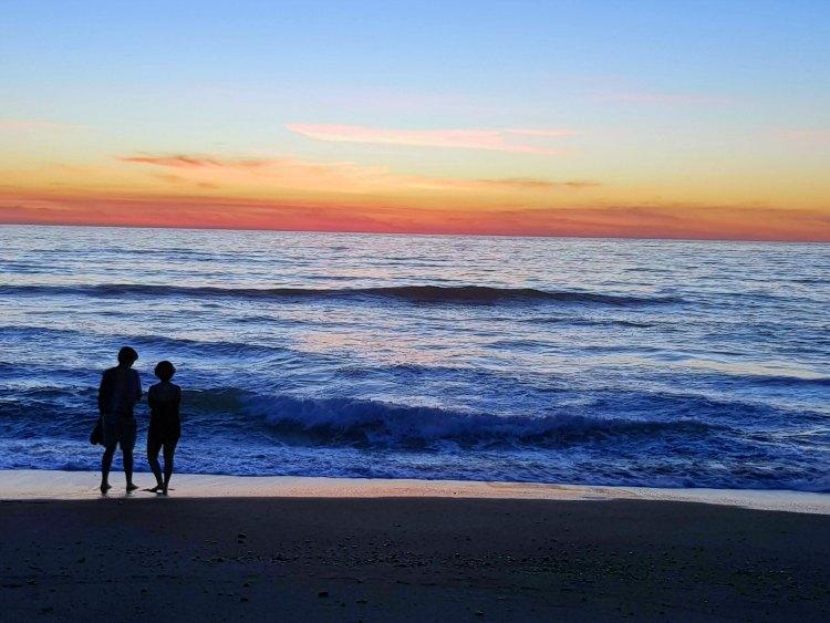 Sunset on the beach in California