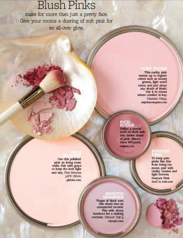 blush pink paint palette