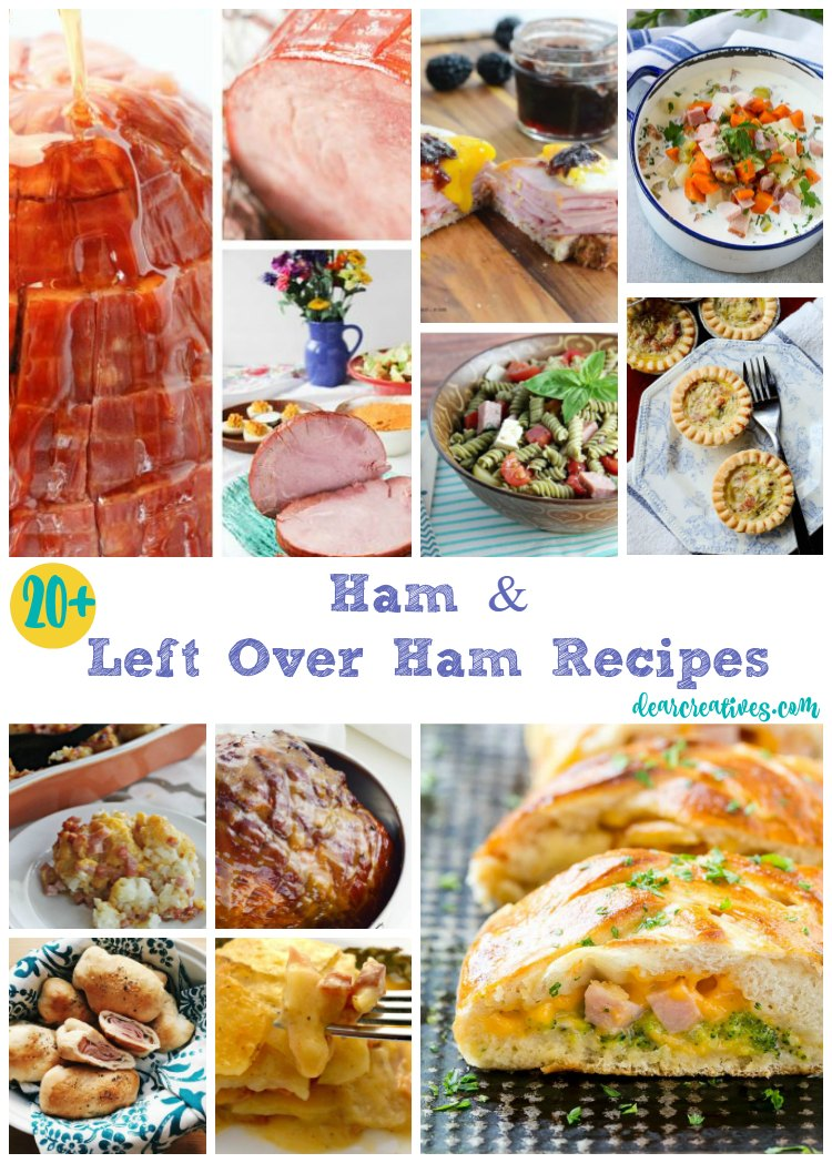 20 of The Best Ham Recipes and Left Over Ham Recipes