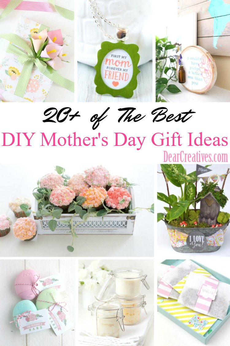 DIY Mother\'s Day Gifts | 20+ of The Best Gift Ideas for Mom