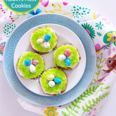 The Easiest Robin's Nest Decorated Cookies