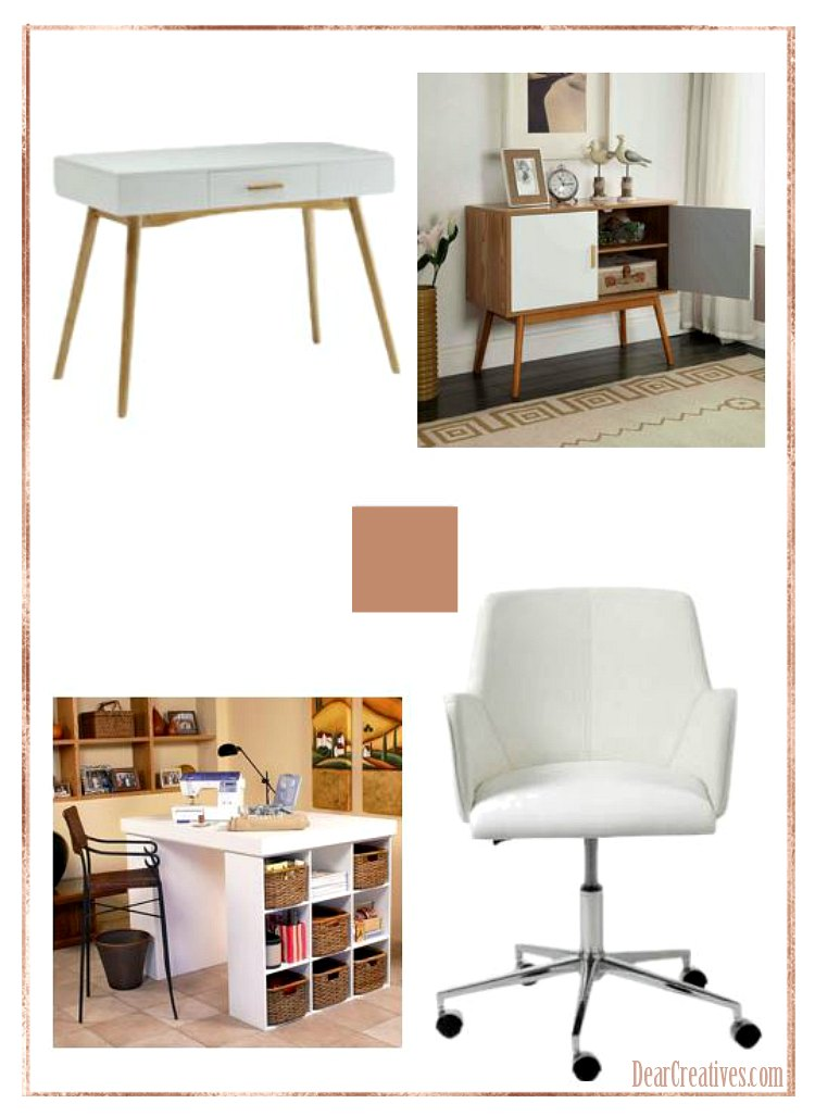 DIY Home Office Ideas DearCreatives.com
