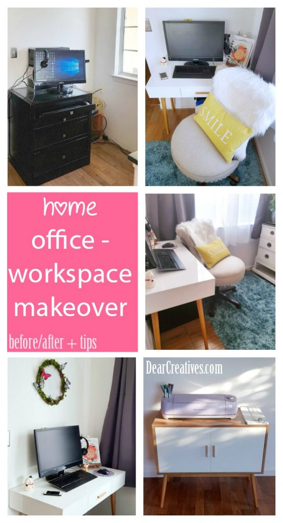 Must See Home Makeover Home Office Before-After and Decor Ideas