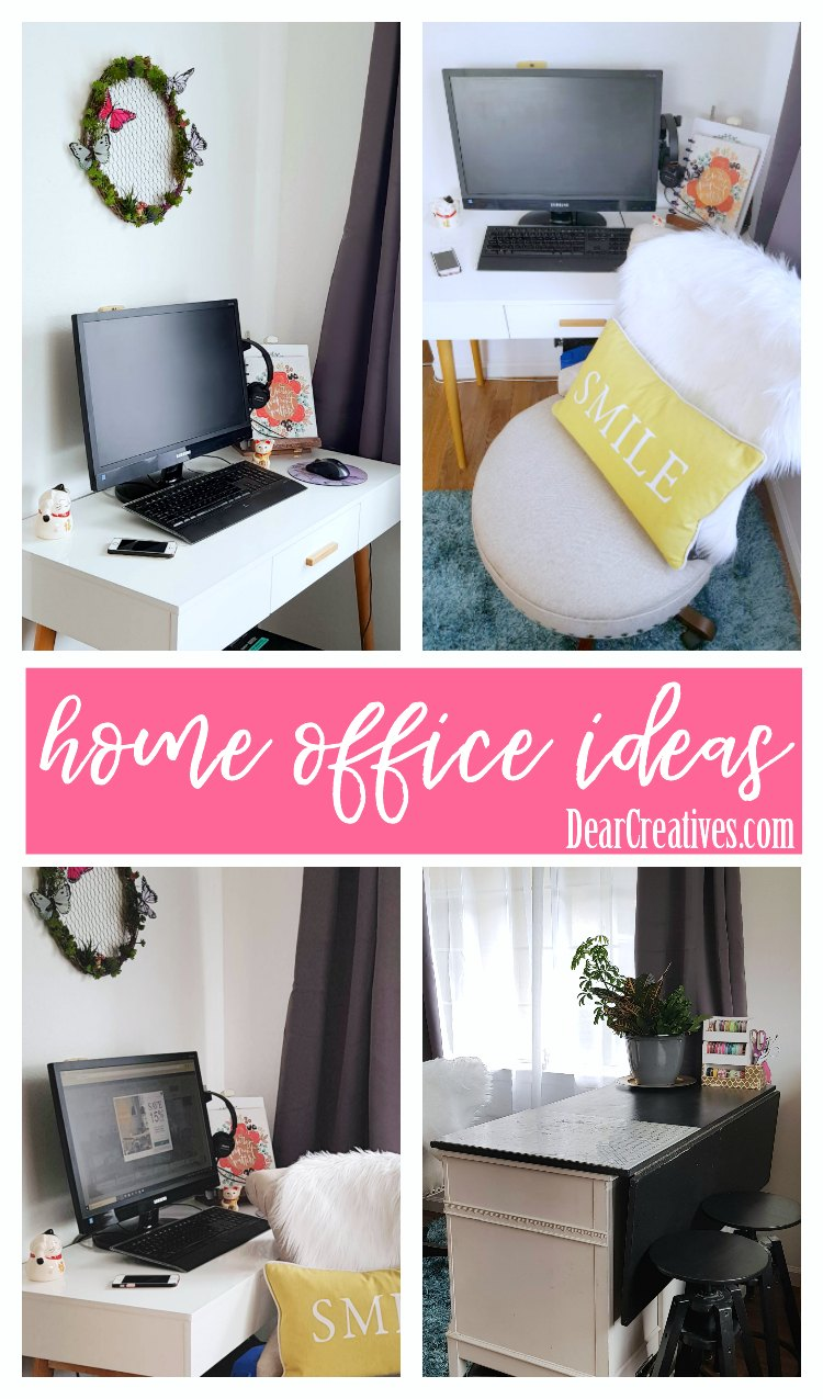 home office ideas We are sharing our home office beforeafter, along with home office DIYs you can do to make your space work for you. Plus tips for buying furniture online. See the home office organization tips, and DIY home office. DearCreatives.com