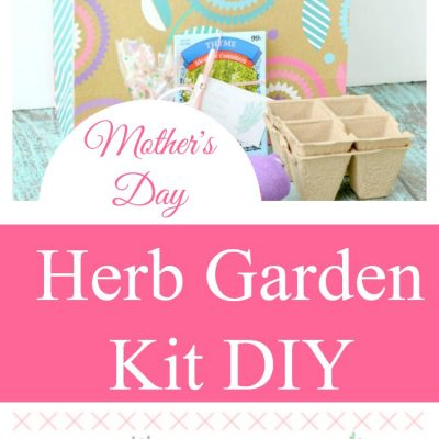 Mother's Day Gift Idea Garden Kit DIY With Free Printable Tags