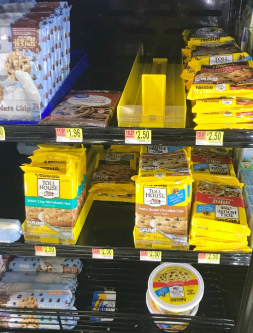Toll House Cookie Dough at Walmart