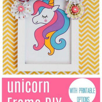 Unicorn Frame DIY is an Easy Unicorn Crafts Idea to Make