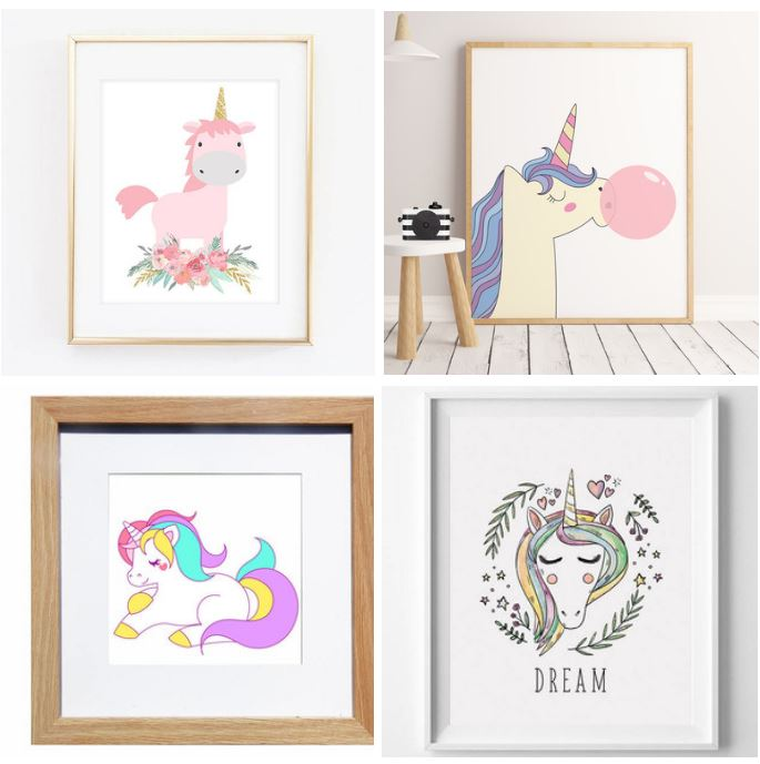 Unicorn frame diy is an easy unicorn craft to make for Easy photo frame craft