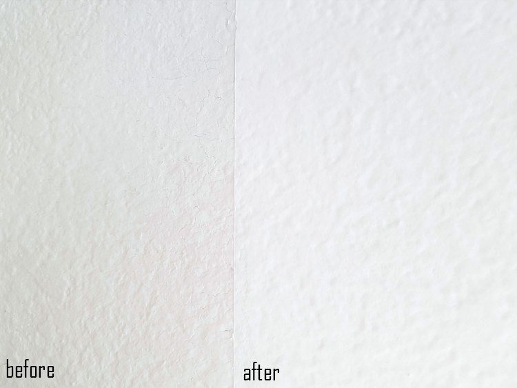 before and after white paint colors wall paint © 2018 Theresa Huse