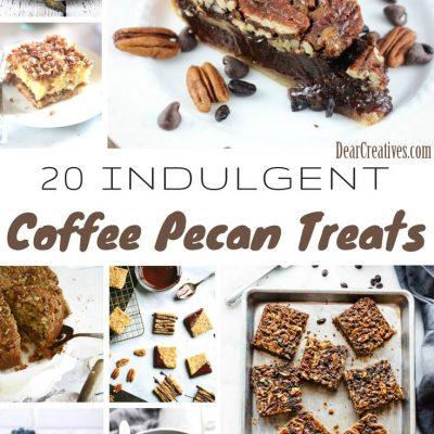 20+ Easy Pecan Desserts, and Coffee Pecan Treat Recipes