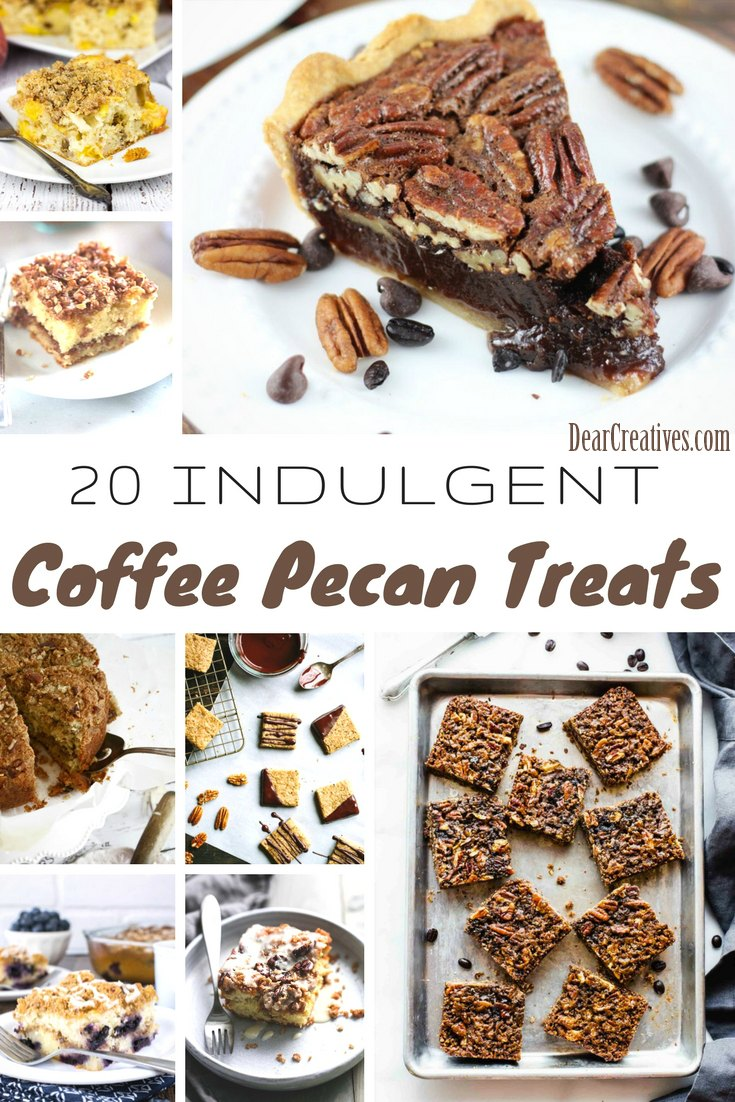 20+ Easy Pecan Desserts, and Coffee Pecan Treat Recipes
