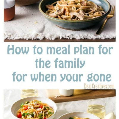 Meal Planning for When You go Out of Town