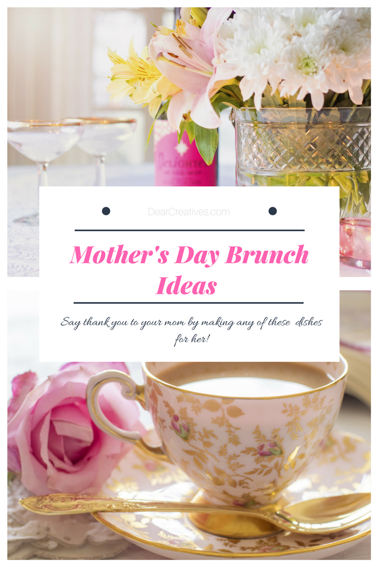 Mother's Day Brunch Ideas Some of our favorite recipes, drinks, and brunch menu planning ideas you can find. #brunch #mothersdaybrunch