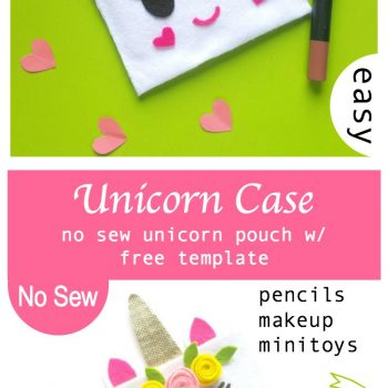 Fun, and Easy No Sew Unicorn Pouch DIY with FREE Template
