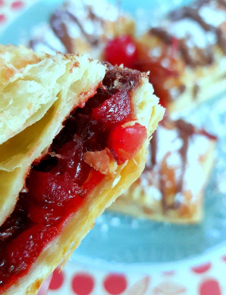 cherries, and hazelnut inside a puff pastry dessert Recipe at DearCreatives.com