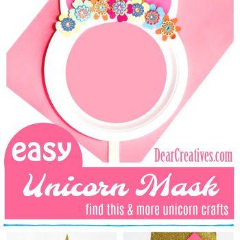 Paper Plate Unicorn Mask is a Fun Kids Craft to Make