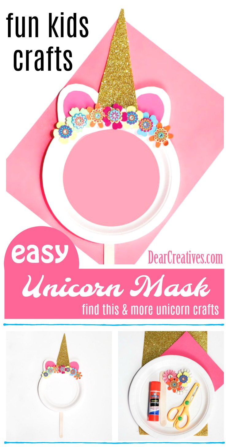 Paper Plate Unicorn Mask is a Fun Kids Craft to Make