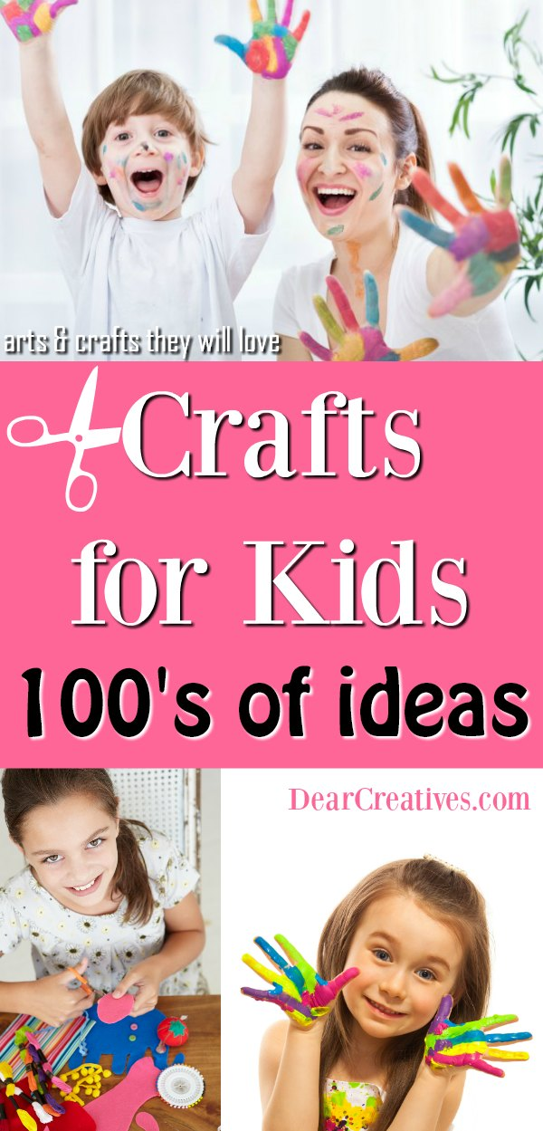 Crafts for Kids If you are looking for arts and crafts for kids you have to see all the ideas that are fun, and easy to make. DearCreatives.com #craftsforkids #kidscrafts #artsandcrafts #kidsactivities