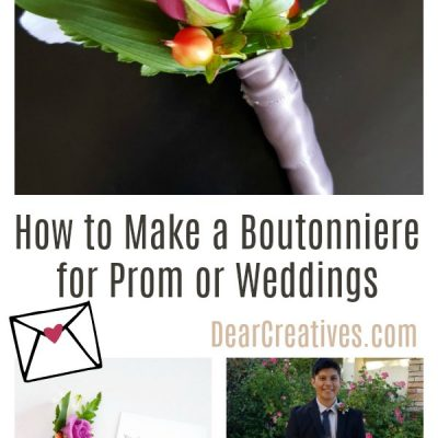 DIY Boutonniere – How to Make a Boutonniere for a Prom or Wedding