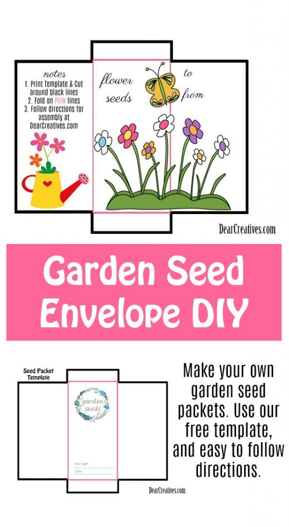 Lively image with regard to printable seed packet