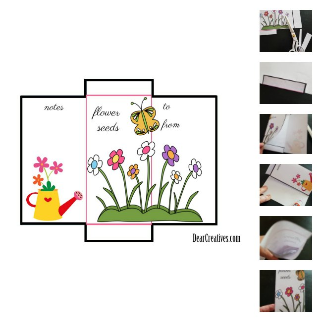 Seed Packet Template Free Printable And DIY For Your Gardening Seeds - Seed packet template
