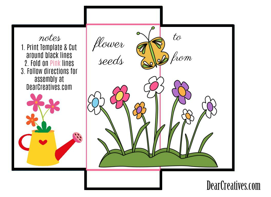 Seed Template Instructions for Seed Packet Envelope Template © 2018 DearCreatives.com