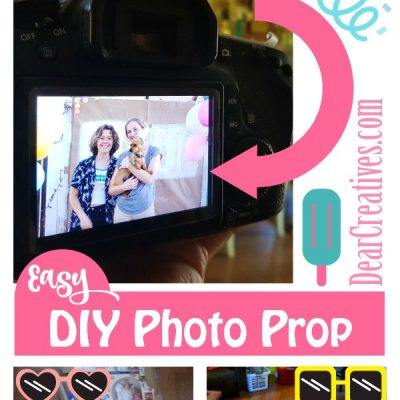 How to Make Photo Booth Props +  DIY Photo Back Drop
