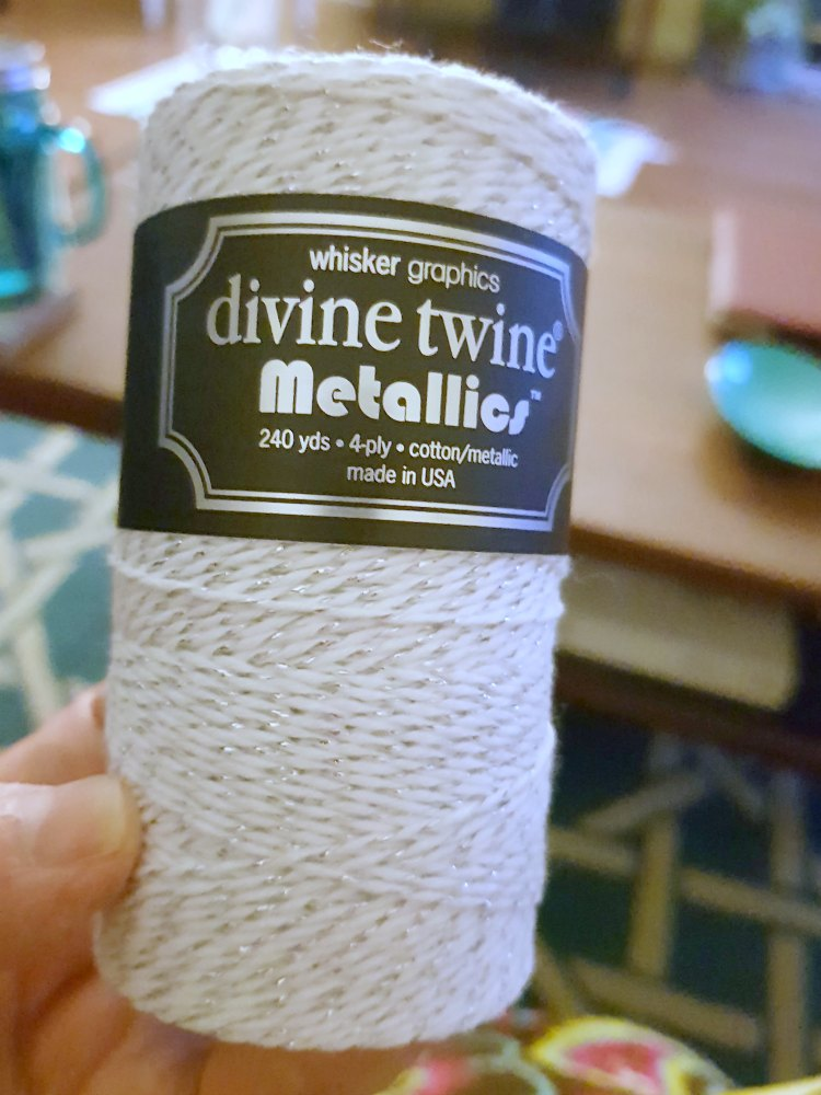 Divine Twine Metallics cotton metallic string used for making a dreamcatcher DIY at DearCreatives.com