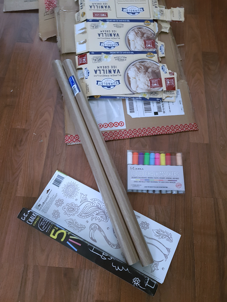 Supplies for making a photo booth prop. DIY on DearCreatives.com