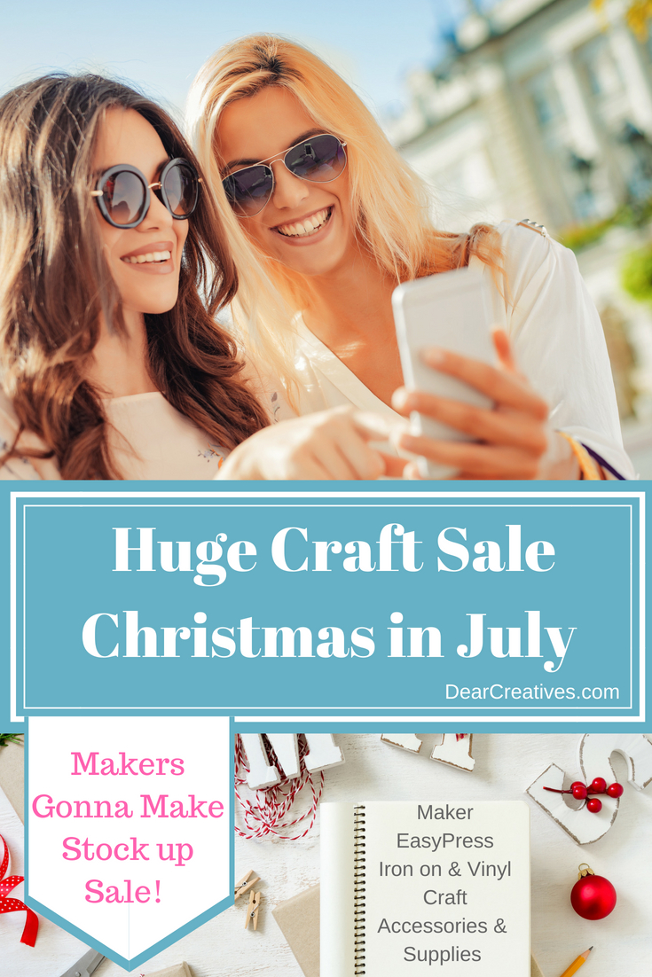 Are you looking to get your craft on? Stock up on this huge craft sale, Christmas in July. Be ready to make all your crafts and holiday craft projects stock up half price! See craft deals #crafts #craftsupplies #christmasinjuly #sale #diy #make