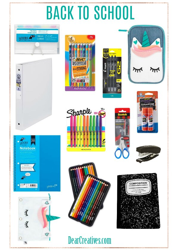 Back to School Supplies, Deals, and Tips DearCreatives.com #backtoschool #shopping #deals #supplies #schoolsupplies #tips