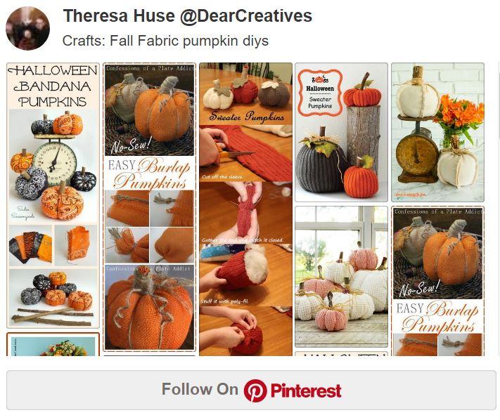 Felt Pumpkin DIY and Fabric Pumpkin DIYs Sew and No Sew Pumpkin Tutorials