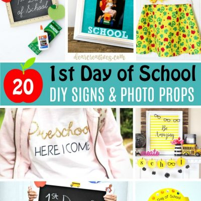 First Day Of School Signs & Photo Props DearCreatives.com #photoprops #firstdayofschool #backtoschool #photography #kids #photoprops #photos