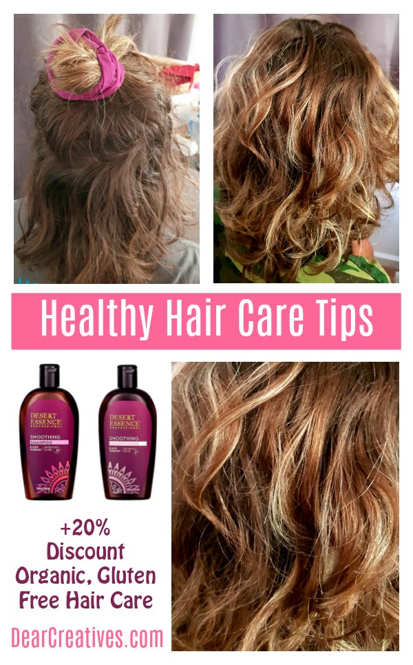_Healthy Hair in 5 EASY STEPS. Do you have dry, frizzy, damaged hair Grab these healthy hair tips, and a discount for hair care products at DearCreatives.com #haircare #healthyhair #hair #beautyproducts #musthaves #organic .jpg