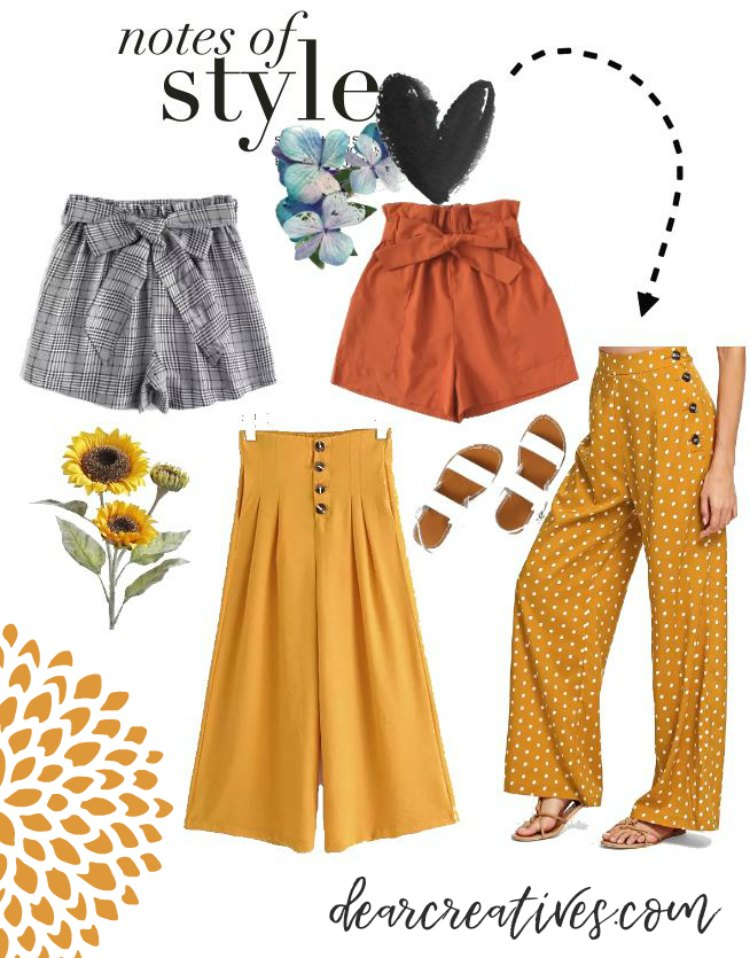 Outfit ideas stylish shorts and pants for school DearCreatives.com #outfitideas #backtoschool #fall #womensclothes #teenoutfitideas #teenoutfits