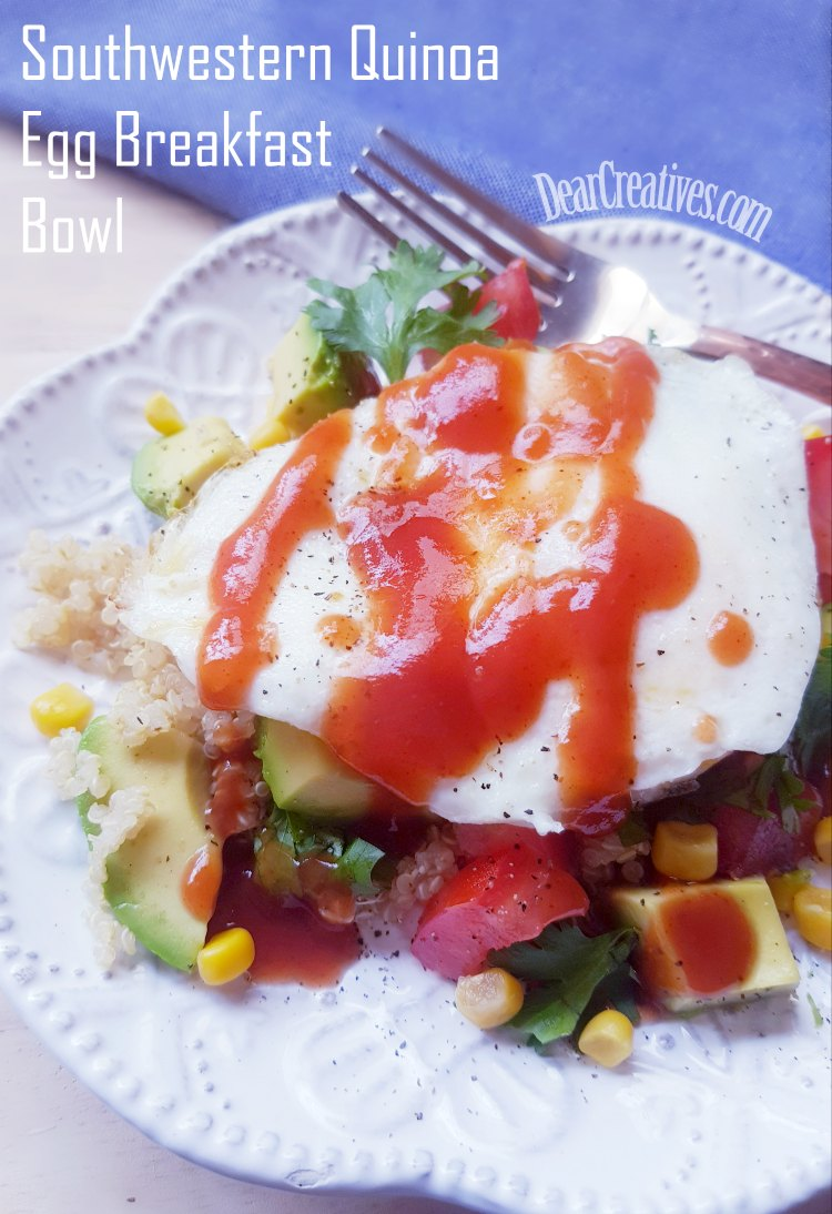 Southwestern Quinoa Egg Breakfast Bowl