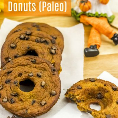Pumpkin Chocolate Chip Donuts - This is an easy pumpkin recipe that is healthy, Paleo, and so tasty! You have to try making these baked donuts. Grab the pumpkin donuts recipe at Dearcreatives.com.jpg