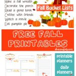 Fall Bucket List -Free Fall Printables - Fall bucket list printable, fall daily planners, party planning sheets, Halloween and more. Grab this and all the free printables at DearCreatives.com #freeprintables #fall #autumn #bucketlists #fallbucketlist #dailyplanner #mealplanners #printable