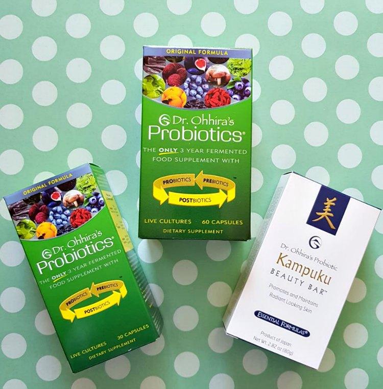 Probiotics food supplements and Kampuku beauty bar by Dr. Ohhira's Probotics