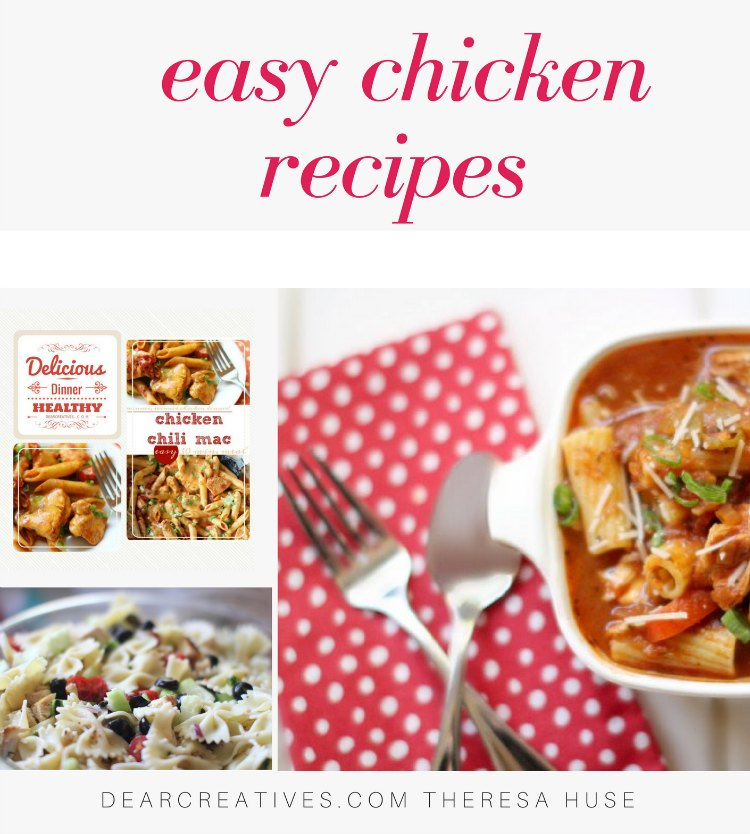 Easy Chicken Recipes - Are you looking for tasty chicken recipes_ Try any of these chicken recipes. So many to pick from! #chickenrecipes #easy #chicken #recipes #dinnerideas #mealplannning #mealplanrecipes