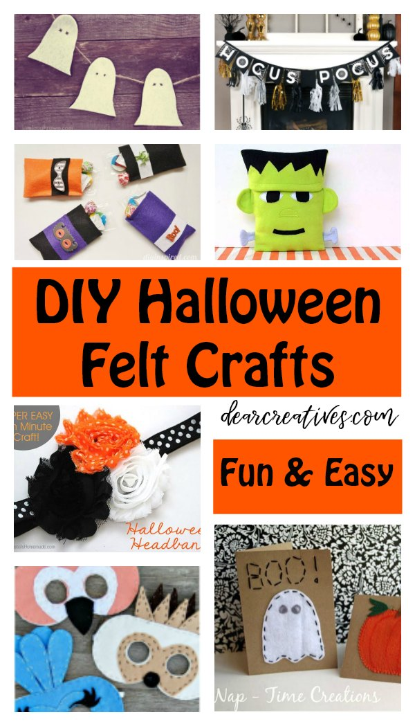 Fun, Quick and Easy Halloween Felt Crafts To Make!