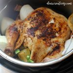 instant pot chicken - Are you looking for a flavorful, tender whole chicken recipe You have to try cooking a chicken in an instant pot. DearCreatives.com #instantpotchicken #chicken #wholechicken #chickenrecipes #easyrecipes #chickendinner #instantpotrecipes #flavorful #tender #dearcreatives